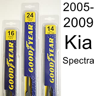 """product image for Kia Spectra (2005-2009) Wiper Blade Kit - Set Includes 24"""" (Driver Side), 16"""" (Passenger Side) , 14A"""" (Rear Blade) (3 Blades Total)"""