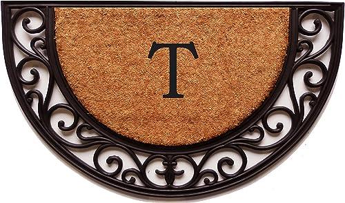 Calloway Mills 100141830T Plantation Arch Monogram Doormat 18 x 30 Letter T