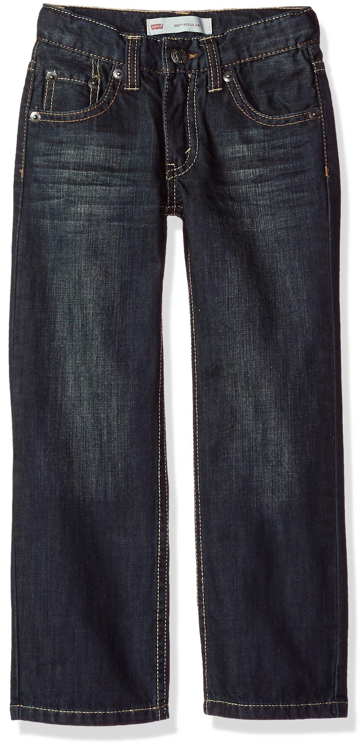 Levi's Boys' 505 Regular Fit Jeans, Dirt Road, 4 Slim