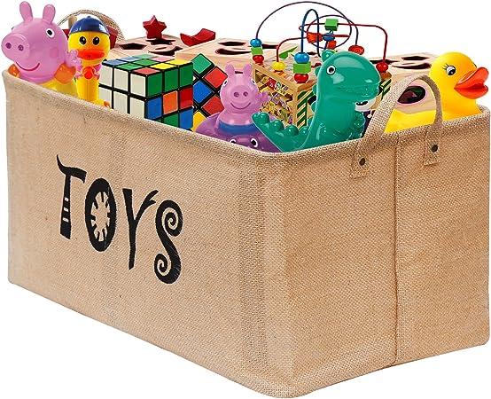 Gimars Contenedor de canasta grande para juguetes Caja de ...
