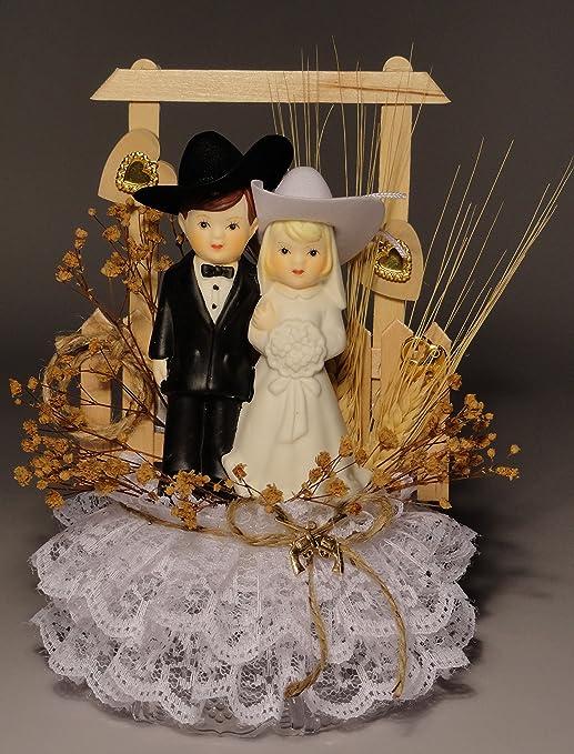 Amazon Com Western Pride Personalized Western Wedding Cake Topper