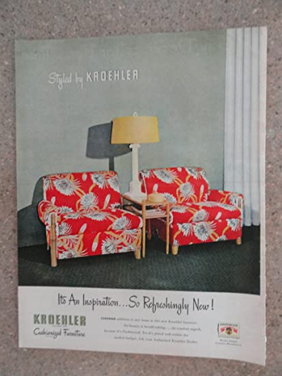 Amazon Com Kroehler Cushionized Furniture Vintage 40 S Full Page