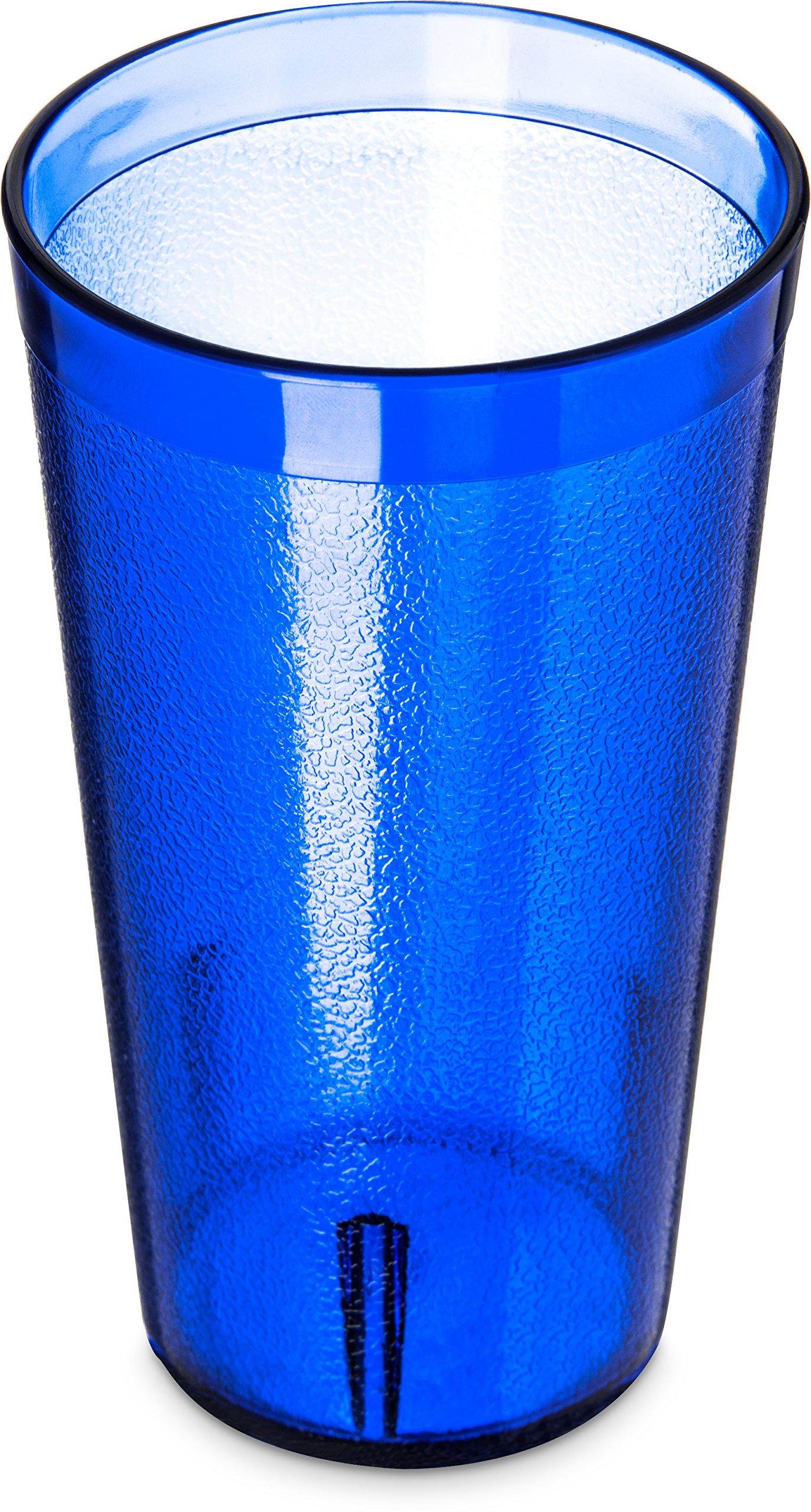 Carlisle 5216-8247 BPA Free Plastic Stackable Tumbler, 16 oz., Royal Blue (Pack of 6)