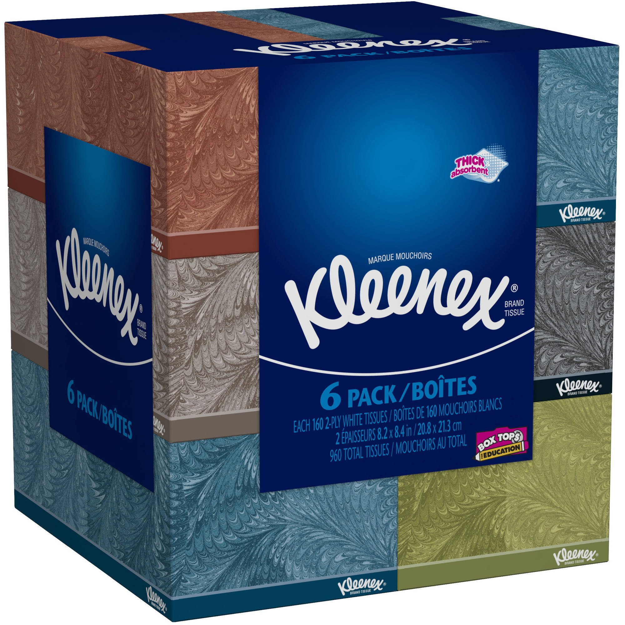 Kleenex 715821386393 Everyday Facial 160 Tissues Per Flat Box, Pack of 6, kkkkk