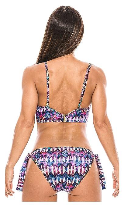 Amazon.com: Babalu Fashion Women Bustier Swimsuit Bikini Set 13724 Trajes de Baño para Damas: Clothing
