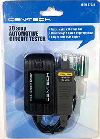amazon com 20 amp automotive circuit tester automotive rh amazon com