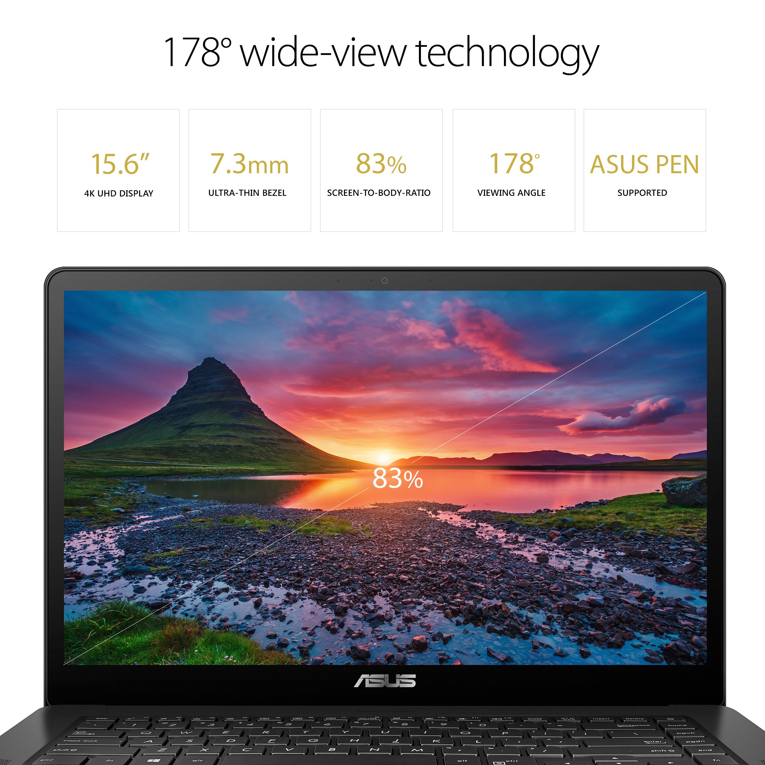 "ASUS ZenBook Pro 15 Thin & Light Ultrabook Laptop, 15.6"" Full HD NanoEdge Touch, Intel Core i7-7700HQ, GTX 1050 Ti, 16GB DDR4 RAM, 512GB SSD, Backlit KB, Fingerprint, Windows 10 - UX550VE-DB71T, Black"