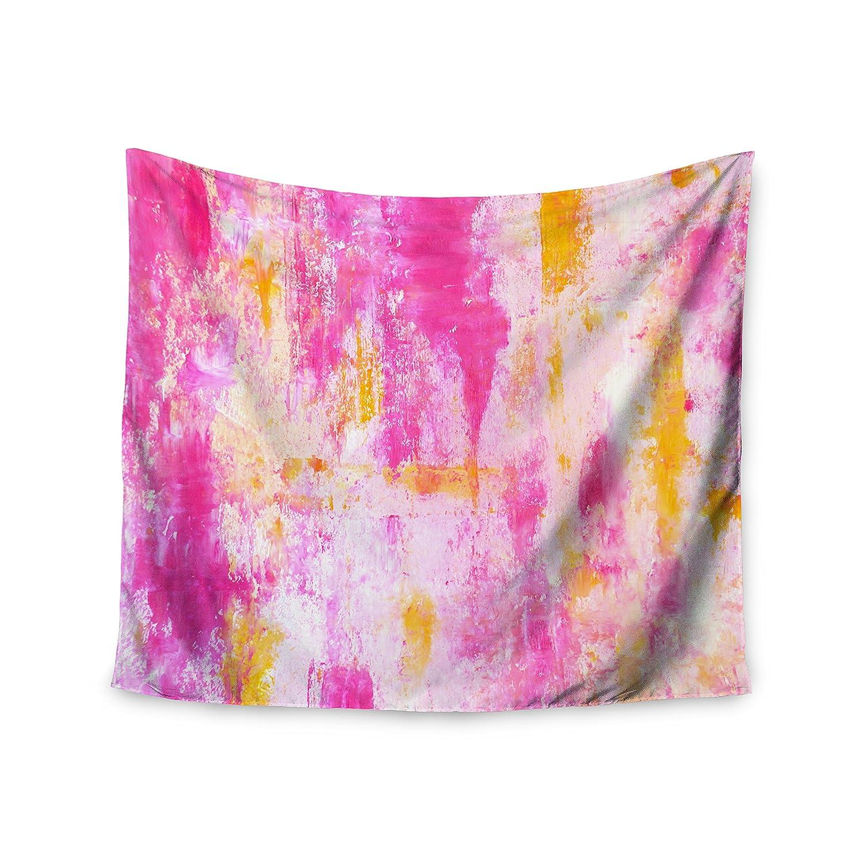 51 X 60 Kess InHouse CarolLynn TICE Fancy Pink Yellow Wall Tapestry