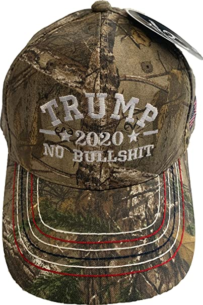 9ac62c060 Trump 1Color No Bull$hit Embroidered Realtree Camo Structured Adjustable  One Size Fits All Hat