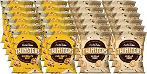 THINSTERS Cookies Variety Pack, 1 Oz (Pack Of 24), Non GMO, Peanut Free, Lunch Box, 12 Chocolate Chip & 12 Vanilla Bean