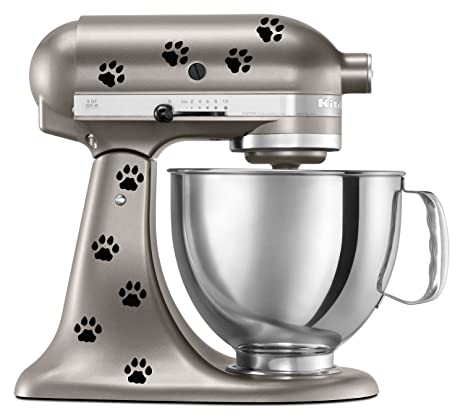 Cat Paw Prints Decal In Black For KitchenAid Mixer   Classic Cool Artistic    Also For