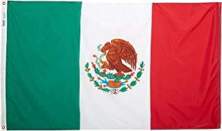 product image for Annin Flagmakers Model 195706 Mexico Flag 3x5 ft. Nylon SolarGuard Nyl-Glo 100% Made in USA to Official United Nations Design Specifications.