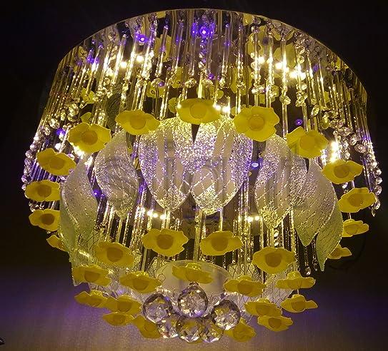 Buy 600 mm Led Jhoomer Ceiling Light Decorative LED Chandelier ...