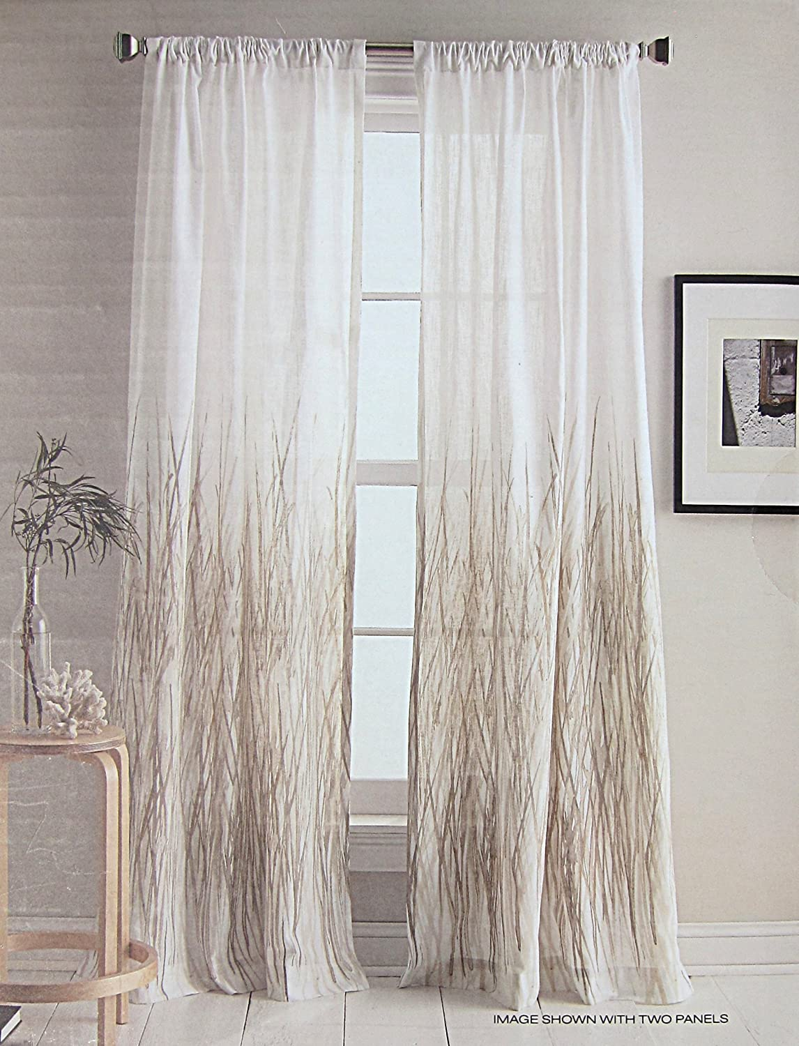 amazon com dkny city meadow floral road pocket curtains 100