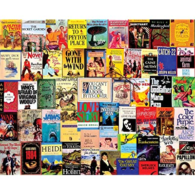 "White Mountain Puzzles ""Best Sellers"", Vintage Book Covers Collage, 1000 Piece Jigsaw Puzzle: Toys & Games"