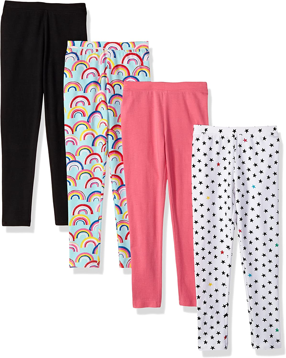 Spotted Zebra M/ädchen 4-Pack Leggings 4er-Pack