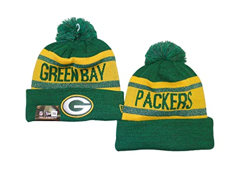Image Unavailable. Image not available for. Color  Green Bay Packers New  Era Metallic Cuffed Pom Knit Beanie ... 179bf60b7cac