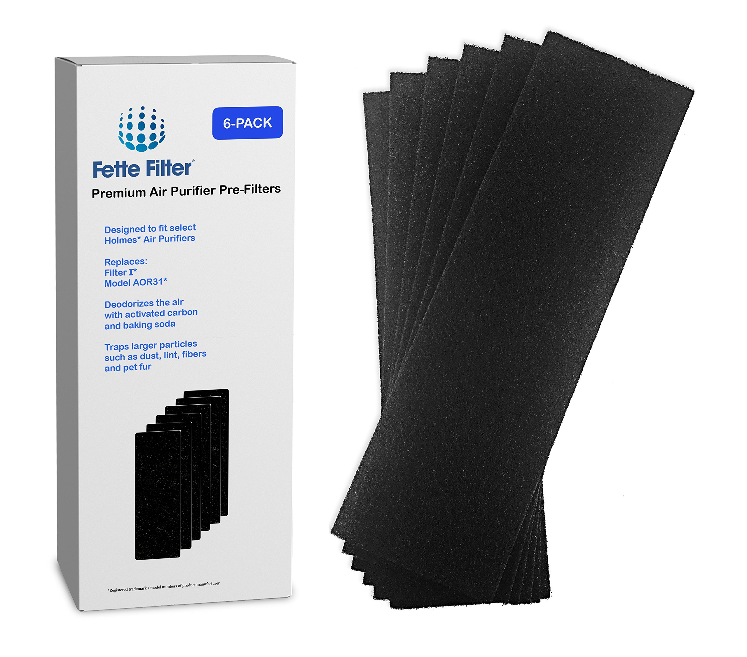 Amazon replacement hepa filter compatible with holmes aer1 6 pack holmes aor31 compatible carbon air purifier pre filters filter i fandeluxe Choice Image