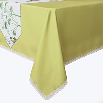 Charmant Decorative Butterfly Print Lace Water Resistant Tablecloth Wrinkle Free And Stain  Resistant Fabric Tablecloths For Rectangle