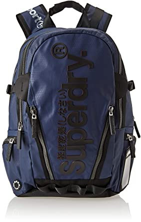Superdry - Silver Tarp, Mochilas Hombre, Azul (Navy), 34x45x15 cm (W x H L): Amazon.es: Zapatos y complementos