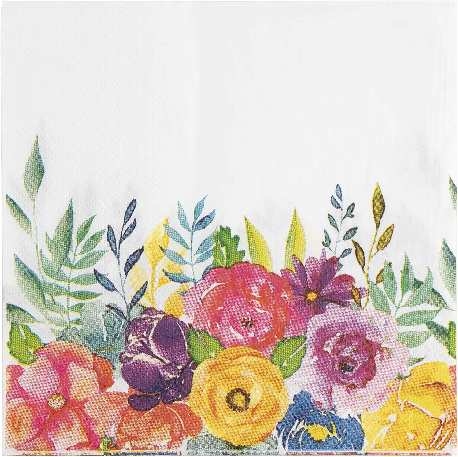 Amazon Com Floral Paper Napkins For Bridal Shower Birthday Party 6 5 Inches 100 Pack Health Personal Care