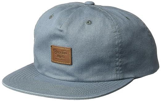 Brixton Mens 00655 Grade Ii Medium Profile Adjustable Unstructured Snapback  Hat Baseball Cap - Gray - 89f60f9f67e