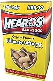 HEAROS Ultimate Softness Series Foam Earplugs, 100 Pair