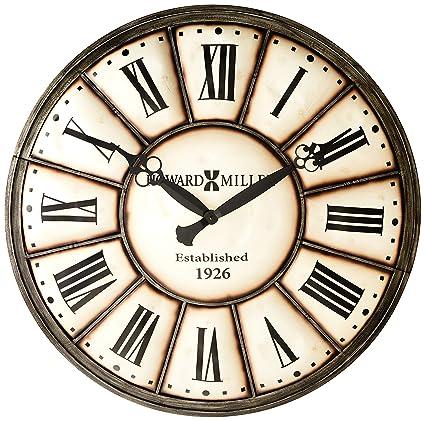 Amazon Com Howard Miller 625 601 Company Time Wall Clock Home