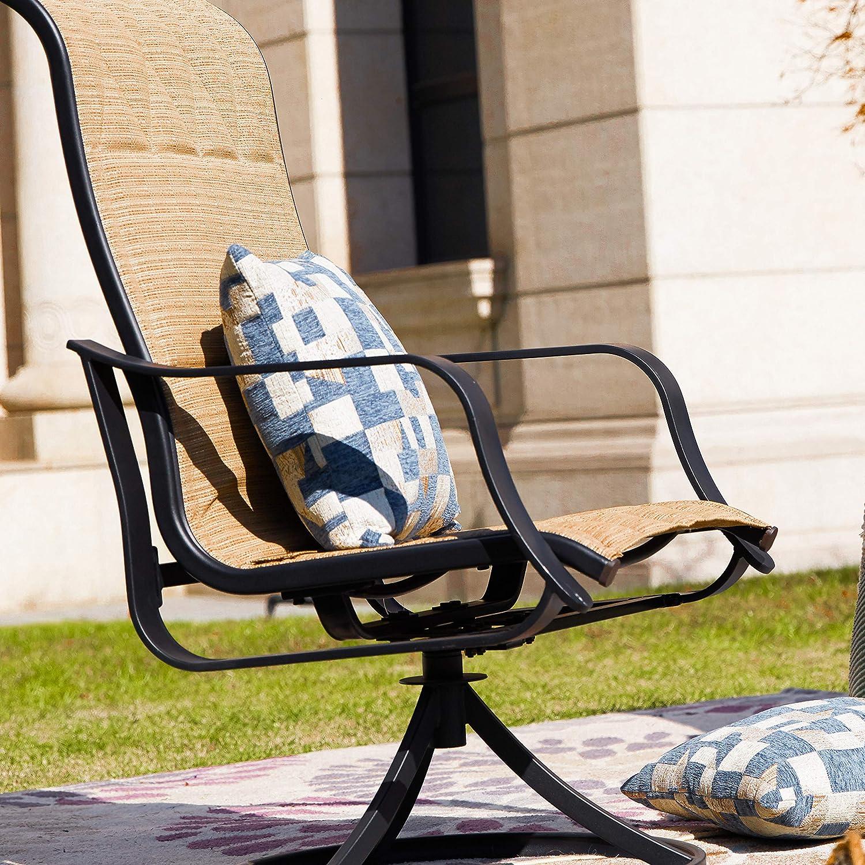 Amazon.com: LOKATSE HOME Juego de sillas giratorias para ...