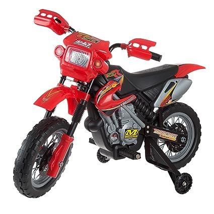 Amazon.com: Mini juguete para moto con pilas, con ruedas de ...
