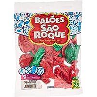 Balão Decorado N.090 Melancia Sortidos - Pacote com 25 Unidade(s), São Roque, 1081289625, Multicor