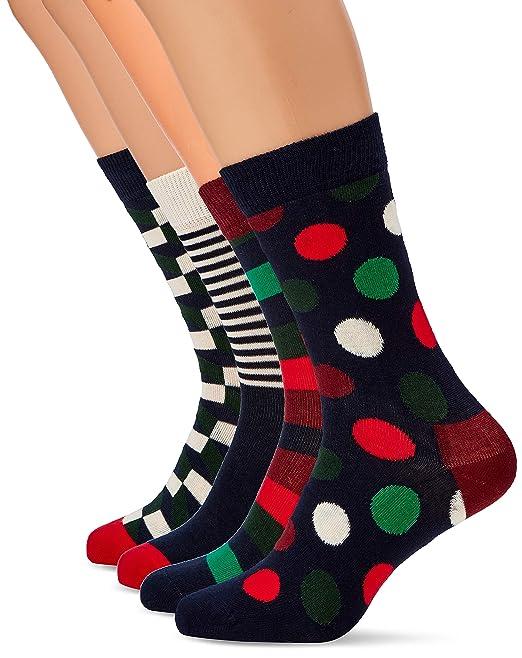 Happy Socks Holiday Big Dot Gift Box, Calcetines para Hombre (Pack de 4): Amazon.es: Ropa y accesorios