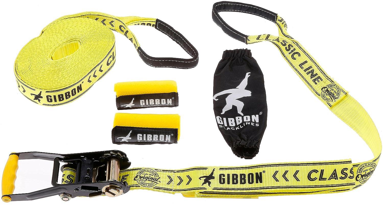 SLACKWEAR Slackline Set con SafetyTree Protezione Albero Grigio Classic Line X13 da Gibbon Slacklines