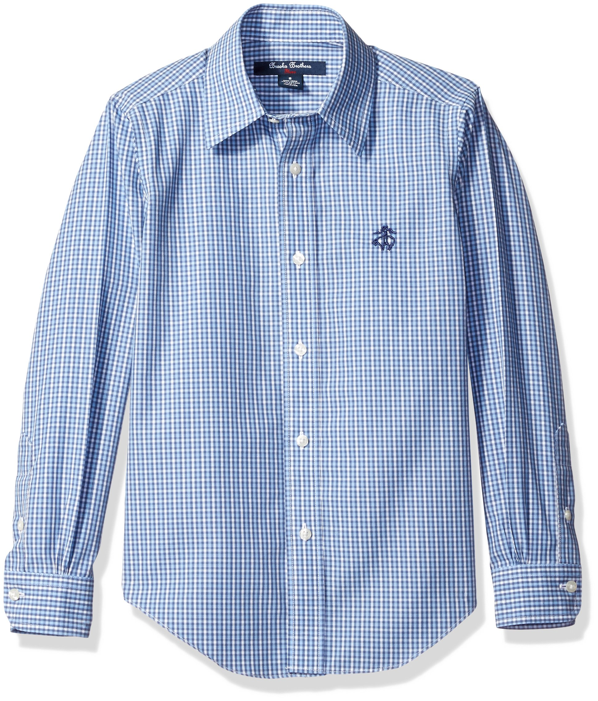 Galleon brooks brothers big boys 39 non iron mini check for Brooks brothers boys shirts