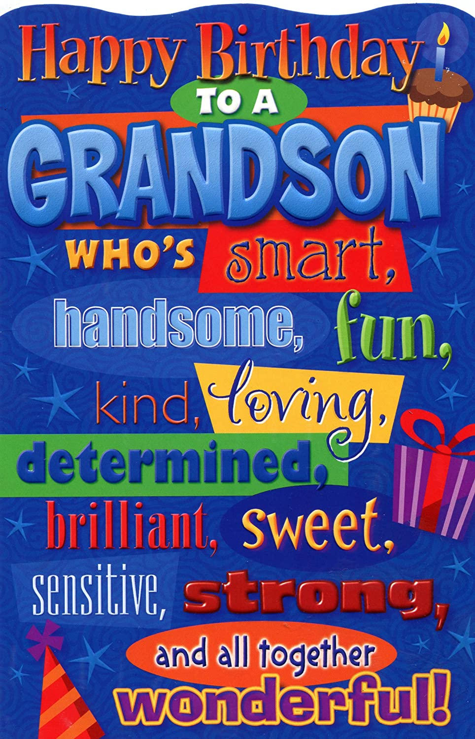 Amazon happy birthday grandson birthday greetings card amazon happy birthday grandson birthday greetings card office products m4hsunfo