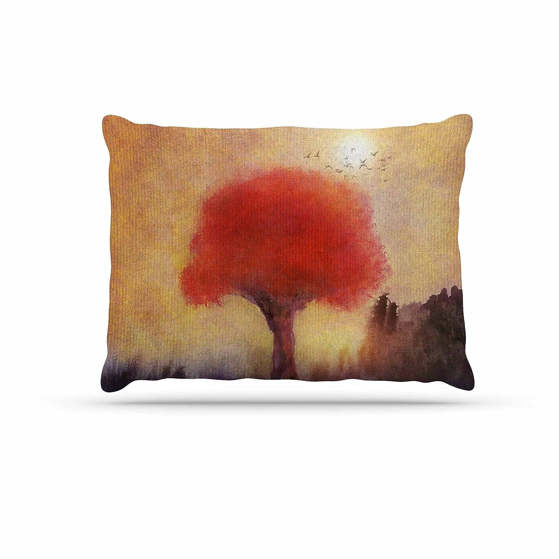 KESS InHouse Viviana Gonzalez Red Tree Yellow Purple Dog Bed, 30  x 40