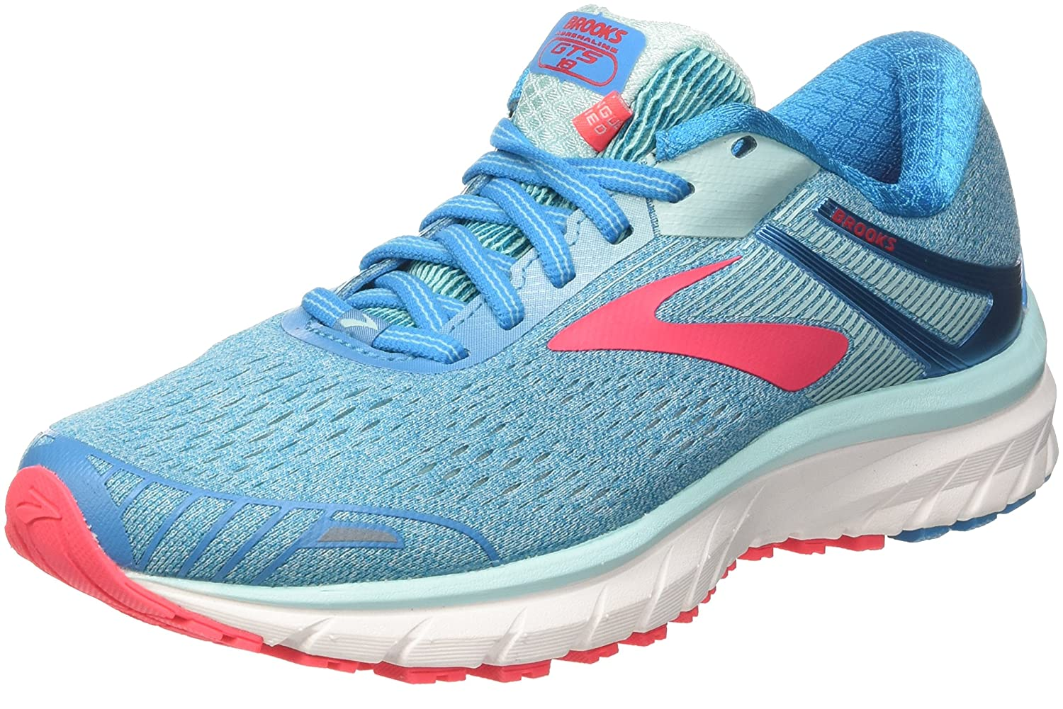 Brooks Womens Adrenaline GTS 18 B071VKGCMK 5.5 B(M) US|Blue/Mint/Pink