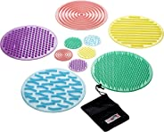TickiT Silishapes Sensory Circles - Set of 10 - Calming Sensory Toy for Kids - Assists Autistic Toddlers & Children