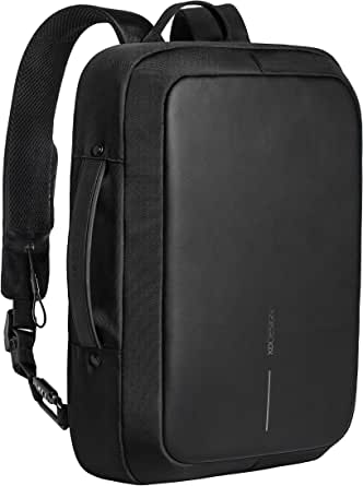 XD-Design Bobby Bizz Anti-Theft Backpack & Briefcase with Integrated USB charging port and Hidden Zippers & Pockets - Black