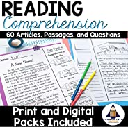 Reading Comprehension Passages and Questions for Grades 3-5 - Print and Google Classroom Versions