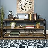 WE Furniture AZS60XMWRO Wood Console Table, Rustic Oak