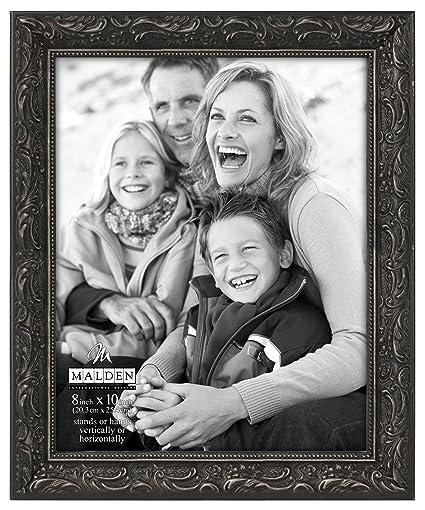 ornate black picture frames rectangle black malden international designs classic ornate black wood picture frame 8x10 amazoncom