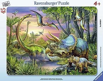 Ravensburger Spieleverlag - Puzzle con marco Dinosaurios de 45 piezas (37.3x29 cm) Spieleverlag