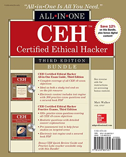 CEH Certified Ethical Hacker Bundle; Third Edition (All-in-One)