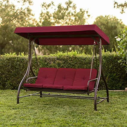 Amazon.com: PREMIUM – Silla de Patio Swing para 3 personas ...