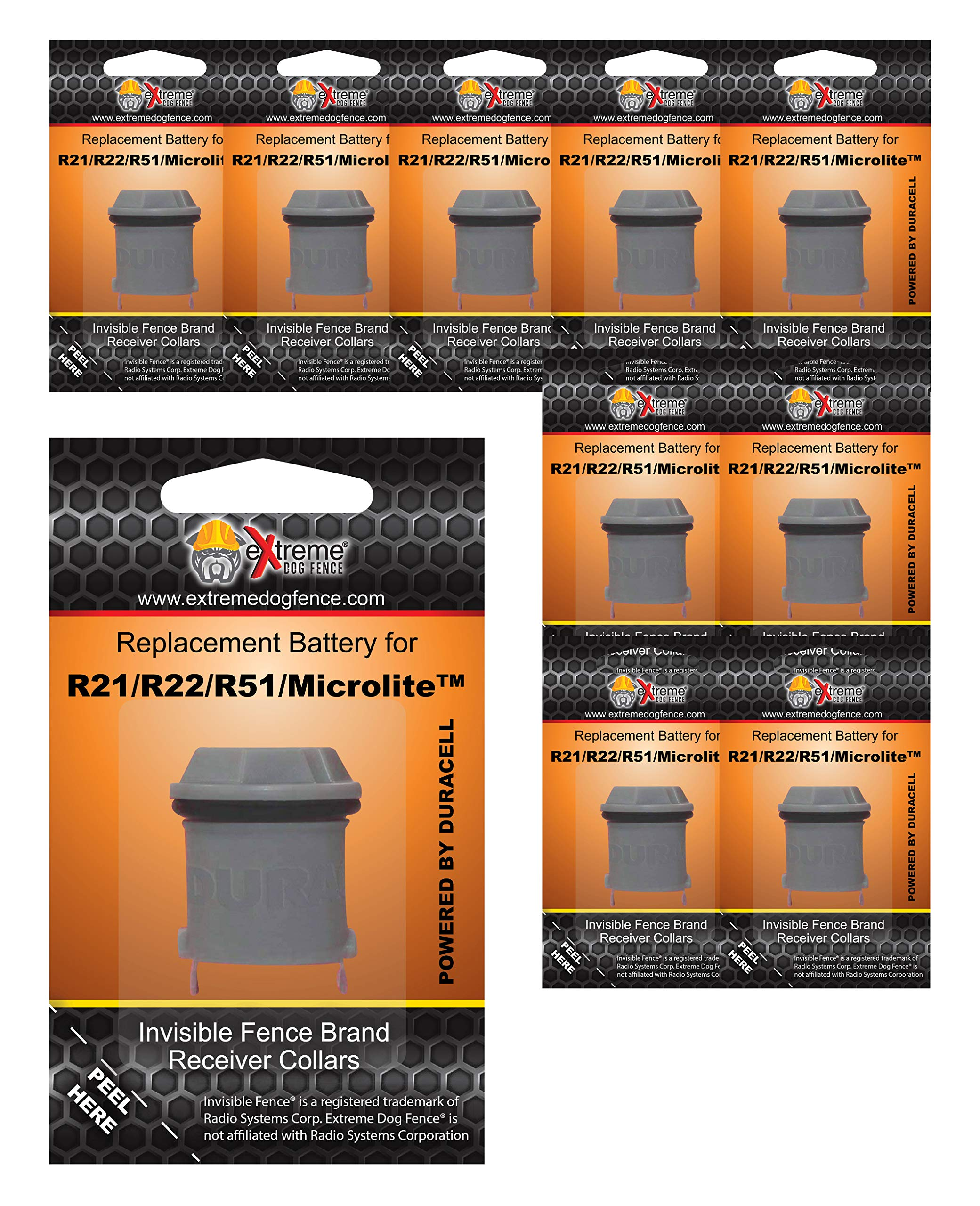 Extreme Dog Fence Invisible Fence Brand Compatible Batteries Brand - 10 Pack by Extreme Dog Fence