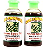 SGK PRODUCTS, Neem Seed Oil (Neem Oil), 100% Pure, Organic and Natural, 400ml