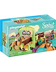 Playmobil, DreamWorks Spirit DreamWorks 9478 Lucky and Spirit with Horse Stall, Multi-Colour