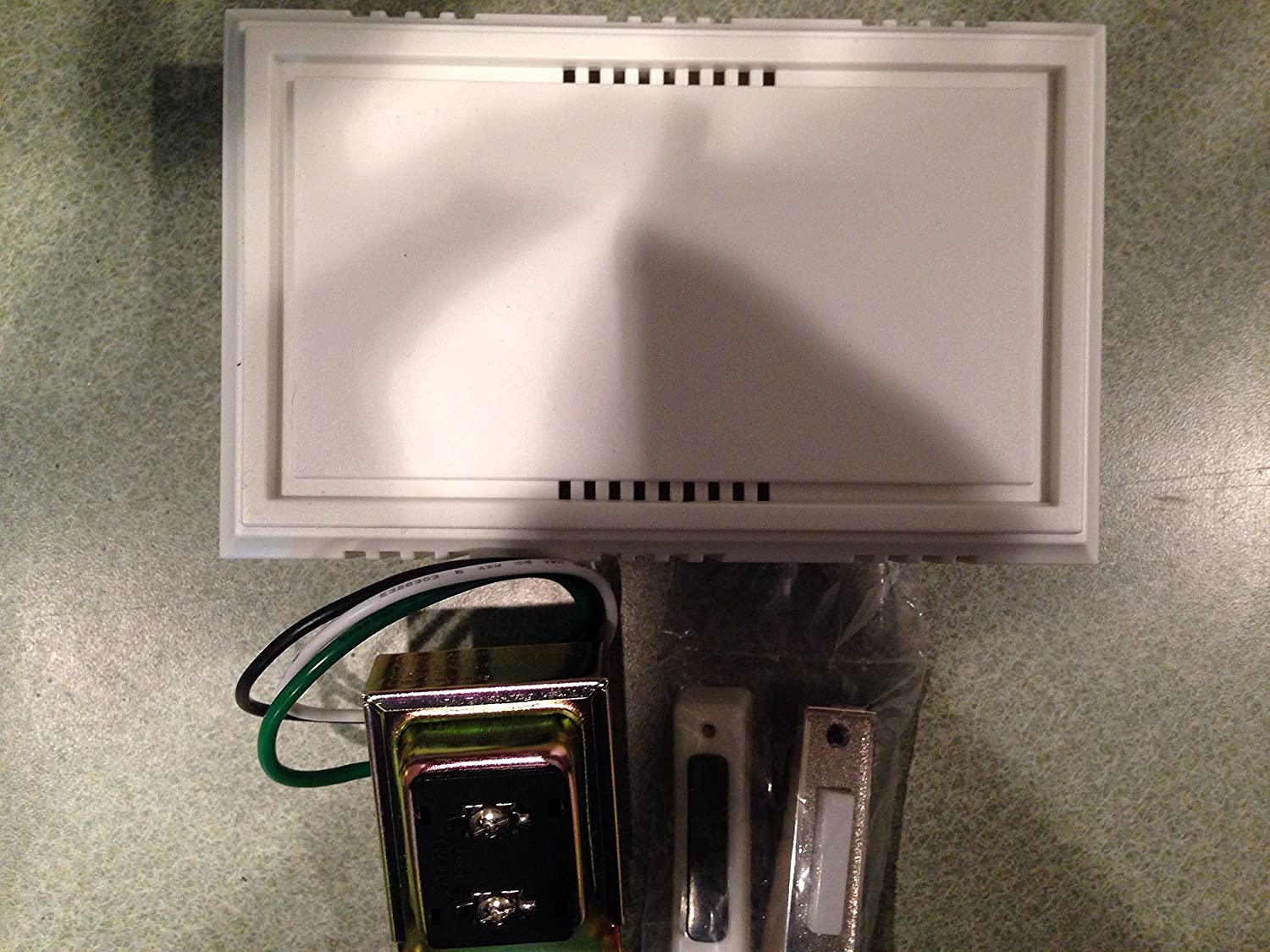 Nickel Brush Button Wired Contractor Doorbell Kit