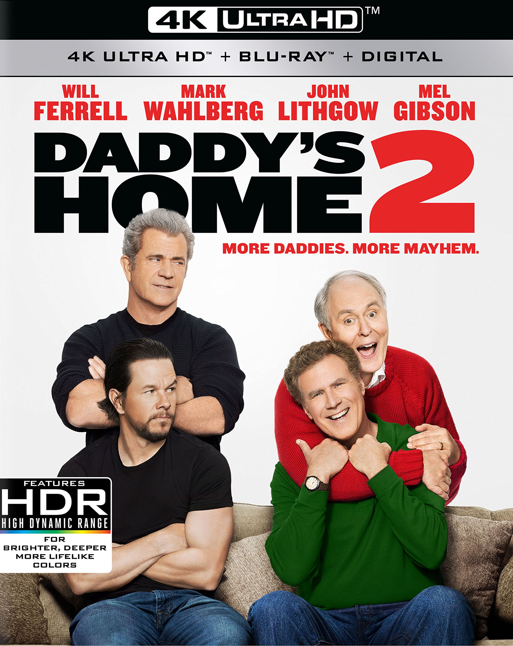 4K Blu-ray : Daddy's Home 2 (With Blu-Ray, 4K Mastering, Dolby, Widescreen, )